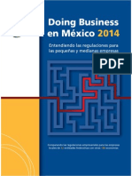 Resultados Del Estudio Doing Business Subnacional 2014 de México