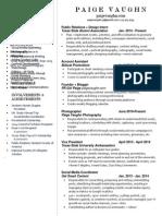 May 2014 Resume