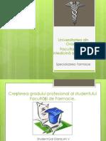Creșterea Gradului Profesional Al Studentului Facultății de Farmacie