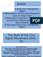 1)How Were Black Lives Changed by WWI? 2)What Effect Did