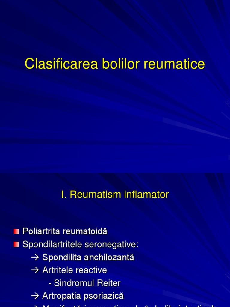 clasificarea bolii articulare