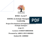 BTEC Project Development and Implementation for Strategic Managers