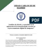 Análisis de diseño y seguridad en la aplicación de la transformada wavelet en el procesamiento digital de imágenes