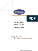17280920 TestKing Free 642061 Routing and Switching Solutions for System Engineers