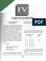 Nuevo Curso de Lógica y Filosofía - Guillermo A. Obiols - Capítulo IV - Lógica de predicados