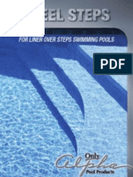 Steel Steps for Swimming Pools with Liner Over