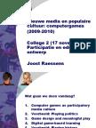 Nieuwe Media en Populaire Cultuur