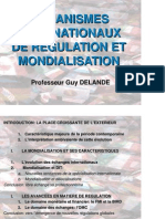 Organismes Internationaux Et Mondialisation M Delande