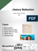 ap us history reflection - julian hernandez