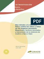 Una Mirada a La Violencia Física Contra Los Niñas y Niñas en Los Hagares Peruanos