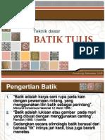 Pembelajaran Dasar Batik Tulis File 2