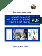 Cuadro Material y Equipo Odontologico