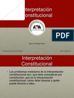 5.1 La Interpretacion Constitucional