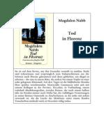 Magdalen Nabb - Tod in Florenz