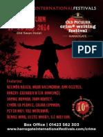 Crime Writing Festival - Harrogate 2014