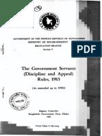 Discipline &Appeal Rules 1985