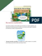 resumen de los recursos naturales