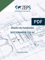 Diseño Fundación SECCIONADOR 115 KV