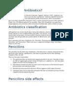 What Are Antibiotics