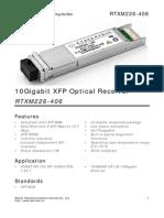 10Gigabit XFP Optical Receiver