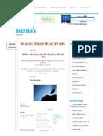 Daily Dua'a _ Oh Allah, Forgive Me All My Sins