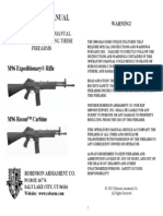 Robinson M96 Expeditionary Rifle User Manual