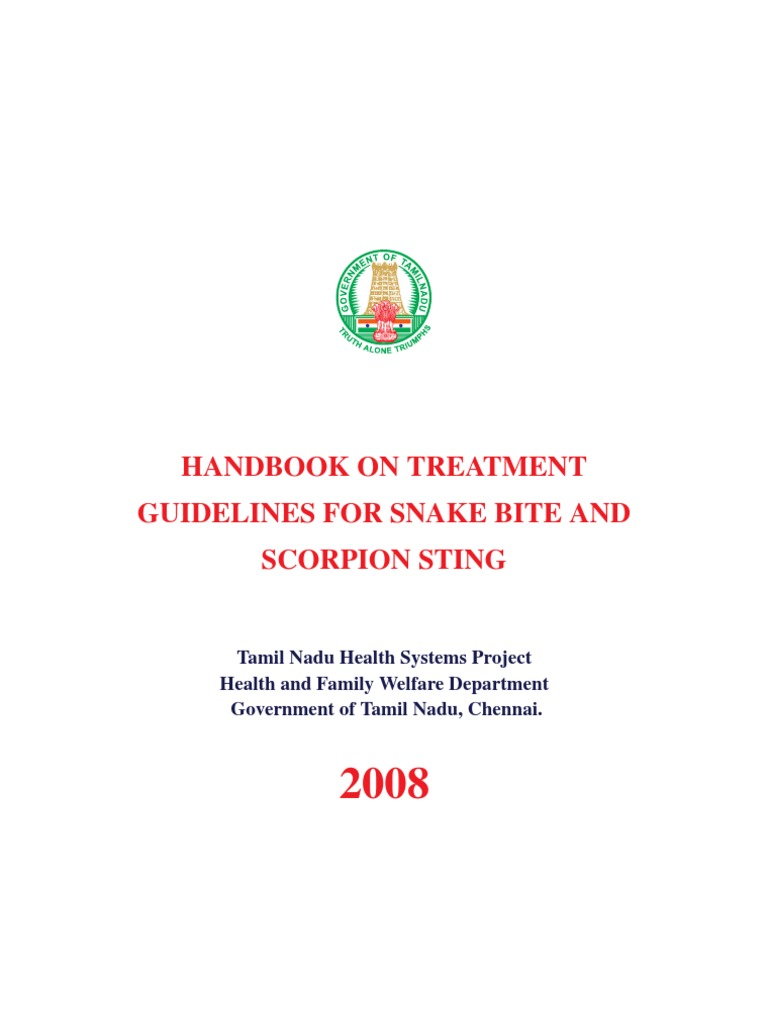 HANDBOOK ON TREATMENT GUIDELINES FOR SNAKE BITE AND SCORPION STING