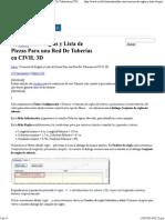 Creación de Reglas y Lista de Piezas Para Una Red de Tuberías en CIVIL 3D _ Tutoriales Al Día CIVIL 3D