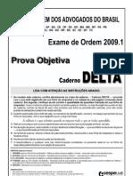Exame OAB 2009-1 Prova Objetiva - Caderno Delta