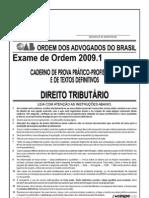 Exame OAB 2009-1 Prova Prático Profissional - Direito Tributário