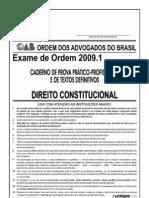 Exame OAB 2009-1 Prova Prático Profissional - Direito Constitucional