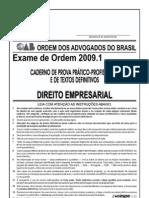 Exame OAB 2009-1 Prova Prático Profissional - Direito Empresarial