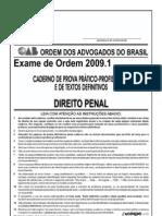 Exame OAB 2009-1 Prova Prático Profissional - Direito Penal