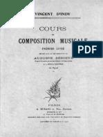 D'Indy - 1909 - Cours de Composition Musicale