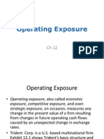9.1 Operating Exposure(1)