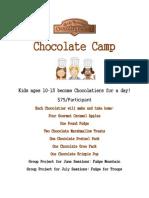 Chocolate Camp Flyer & Registration