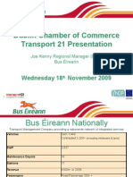 Bus Eireann Presentation for Transport 21 Briefing