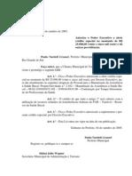 Projeto de Lei 052 - 05 Lei 497