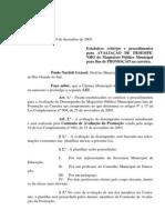 Projeto de Lei 060 - 05 Lei 506