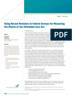 Using Recent Revisions to Federal Surveys for Measuring the Effects of the Affordable Care Act