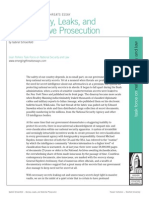 Secrecy, Leaks, and Selective Prosecution, by Gabriel Schoenfeld
