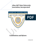 N.C. A&T State University Alumni Association, Inc Proposed Constitution and Bylaws