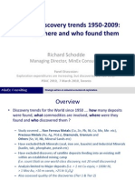 Global Discovery Trends 1950-2009 PDAC March 2010