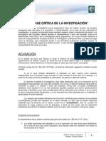 Lectura 10 - La Fase Crítica de La Investigación