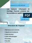 Presentation PFE (Semaine de Recherche)