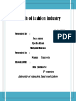 Growth of fashion industry in Pakistan