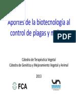 Clase Terapeutica 2013. Aportes Biotecnologia Al Control de Plagas y Malezas