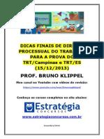 Dicas Finais Para a Prova Do Trt Es e Campinas - Processo Do Trabalho - Bruno Klippel