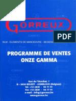 Gorreux Catalogo