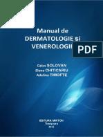 Manual de dermatologie si venerologie